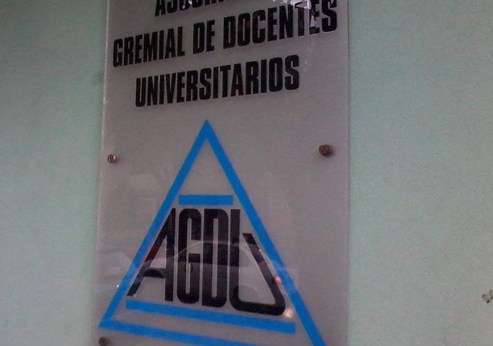 AGDU denuncia plan para debilitar a la universidad pública