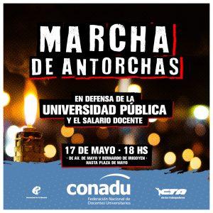 AGDU adhiere a la Marcha de Antorchas en defensa de la universidad pública