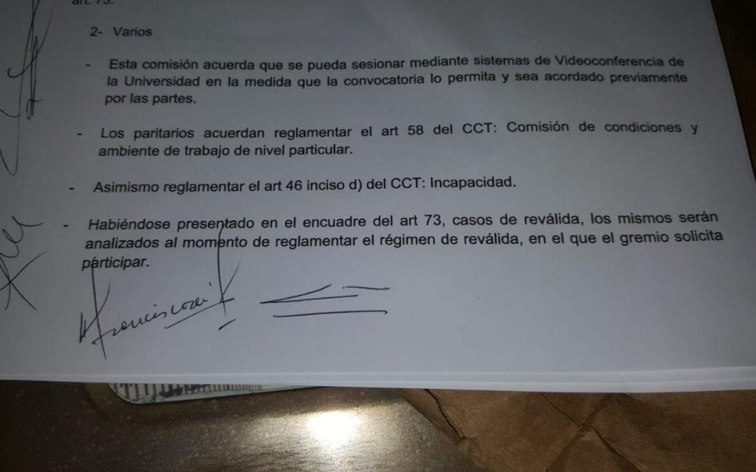 Acta de la negociación paritaria local- AGDU-UNER