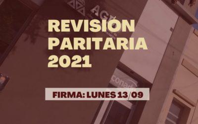 Se aprobó la propuesta salarial y se firma la revisión paritaria